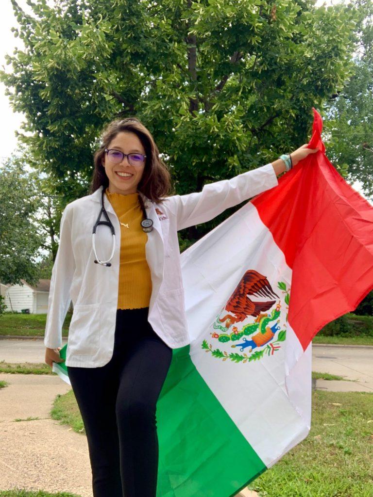 Regina Martinez Holding Mexico Flag